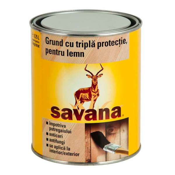 Savana grund pentru lemn cu tripla protectie