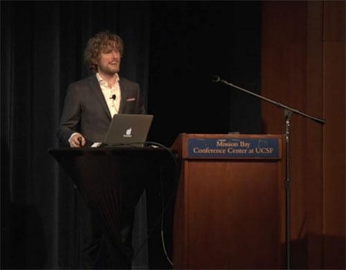 Matt Mullenweg giving his State of the Word 2011 address