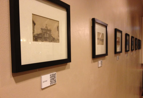 QR CODE CAPTIONS. These American-era photos of Cebu come with QR codes that, when scanned, trigger the download of videos of HAMBIN members talking about the historical significance of the photographs. (PHOTO BY MAX LIMPAG)