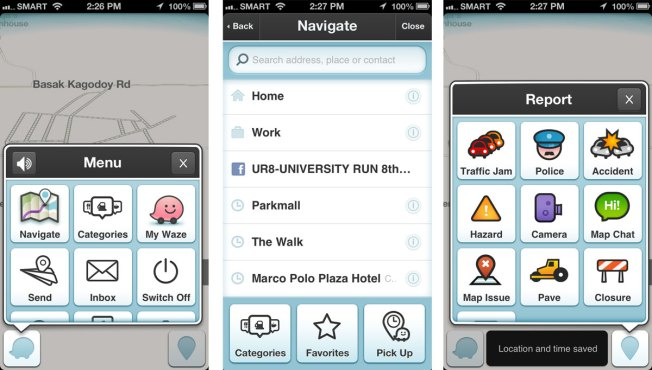 Waze app uses GPS, traffic reports from users