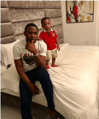 Ubi Franklin Shares Cute Pictures With Son