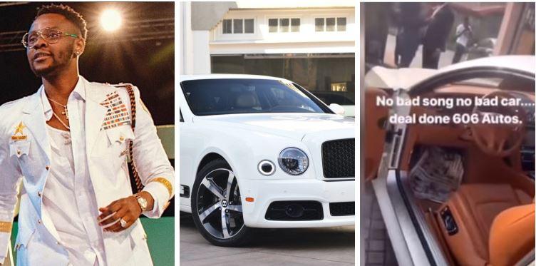 Kizz Daniel In Tears As He Acquires Brand New Bentley (Video)