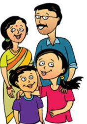 clipart india indian middle class cliparts joint tamil healthy swasthi clip daughter typical couple project