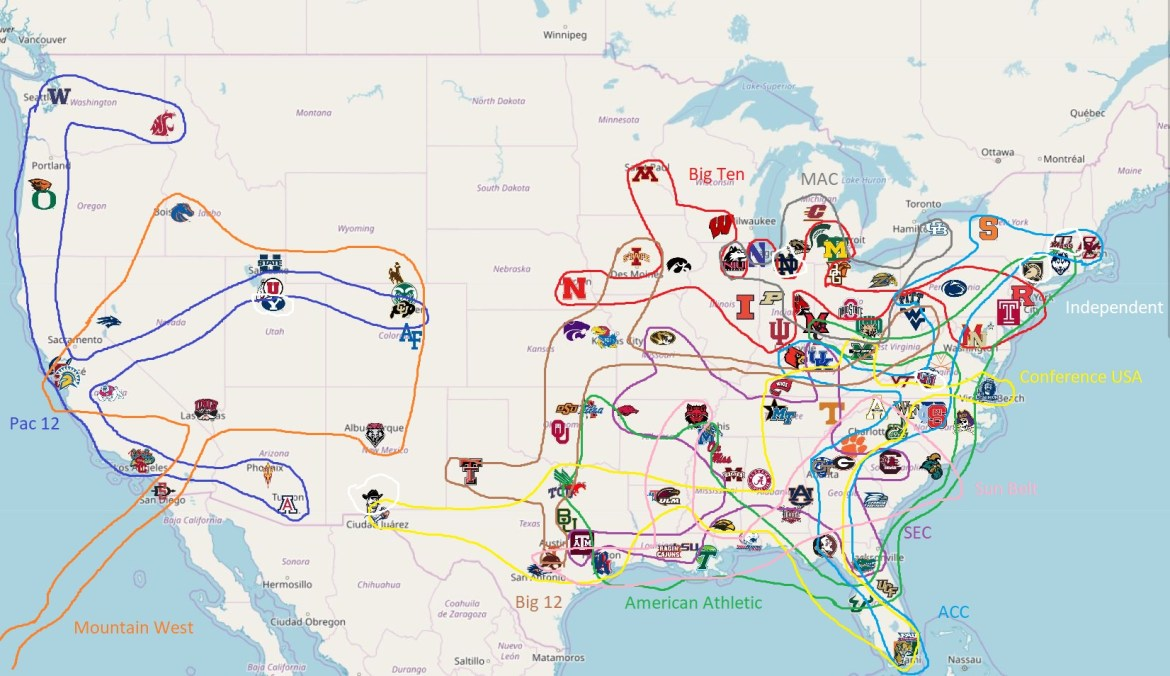 Infographic] Using Machine Learning to Realign the NCAA FBS