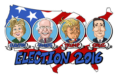 Lantern Press 2016-presidential-candidates postcards