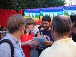 Con il deputato italiano Francesco Caruso (PRC)