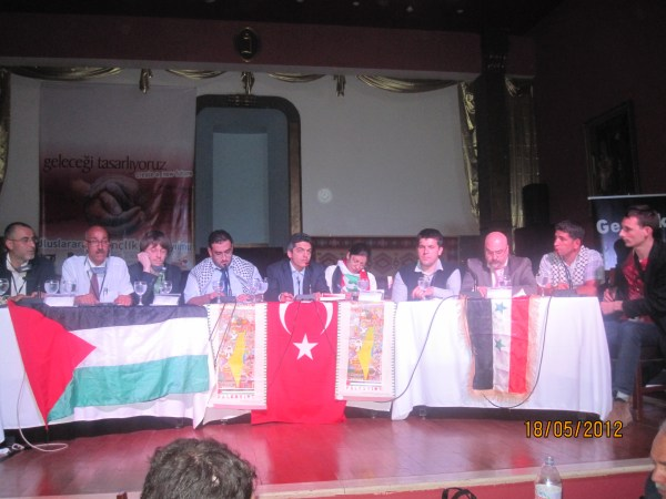 Con gli anti-imperialisti di Palestina, Siria e Turchia, Istanbul, maggio 2011