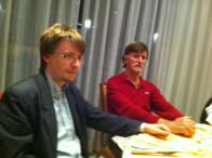 Con Vladimir Kapuralin, responsabile esteri del Partito Socialista Operaio di Croazia