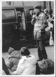 Sciopero studentesco, novembre 2004, davanti al Liceo di Bellinzona