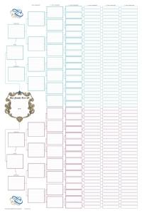 Blank Family Tree Charts Ancestral Pedigree