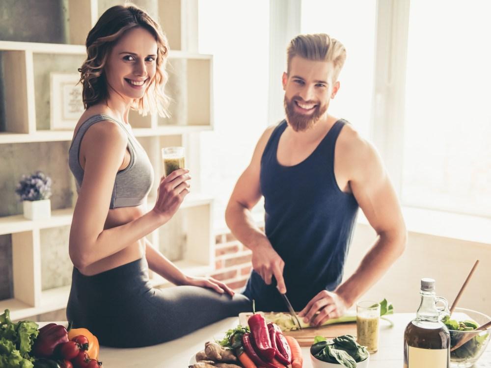 筋トレと食事のイメージ