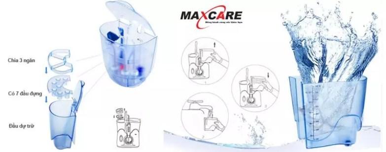 Câu tạo của máy tăm nước Maxcare Max456Plus