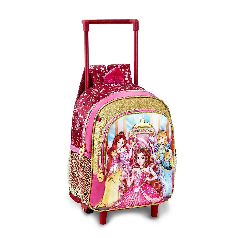 619b46f09 Modelo estampado da Moranguinho mochilas femininas infantil com rodinhas
