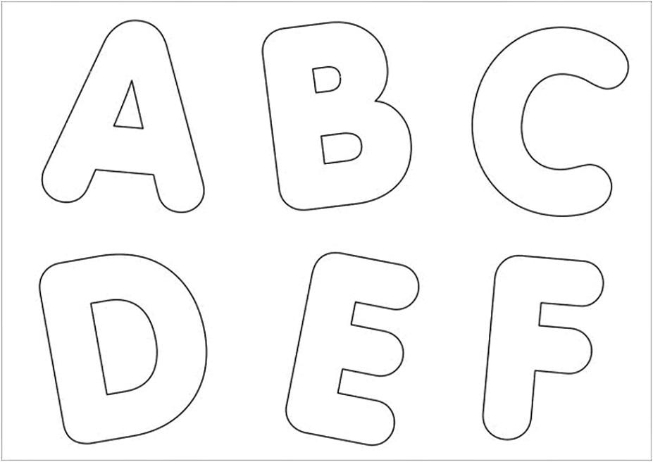 Moldes de Letras do Alfabeto em EVA para Imprimir para Mural   Max ...