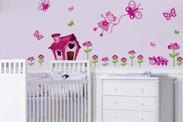 Belos Adesivos De Parede Para Quarto De Beb 234 Feminino Para