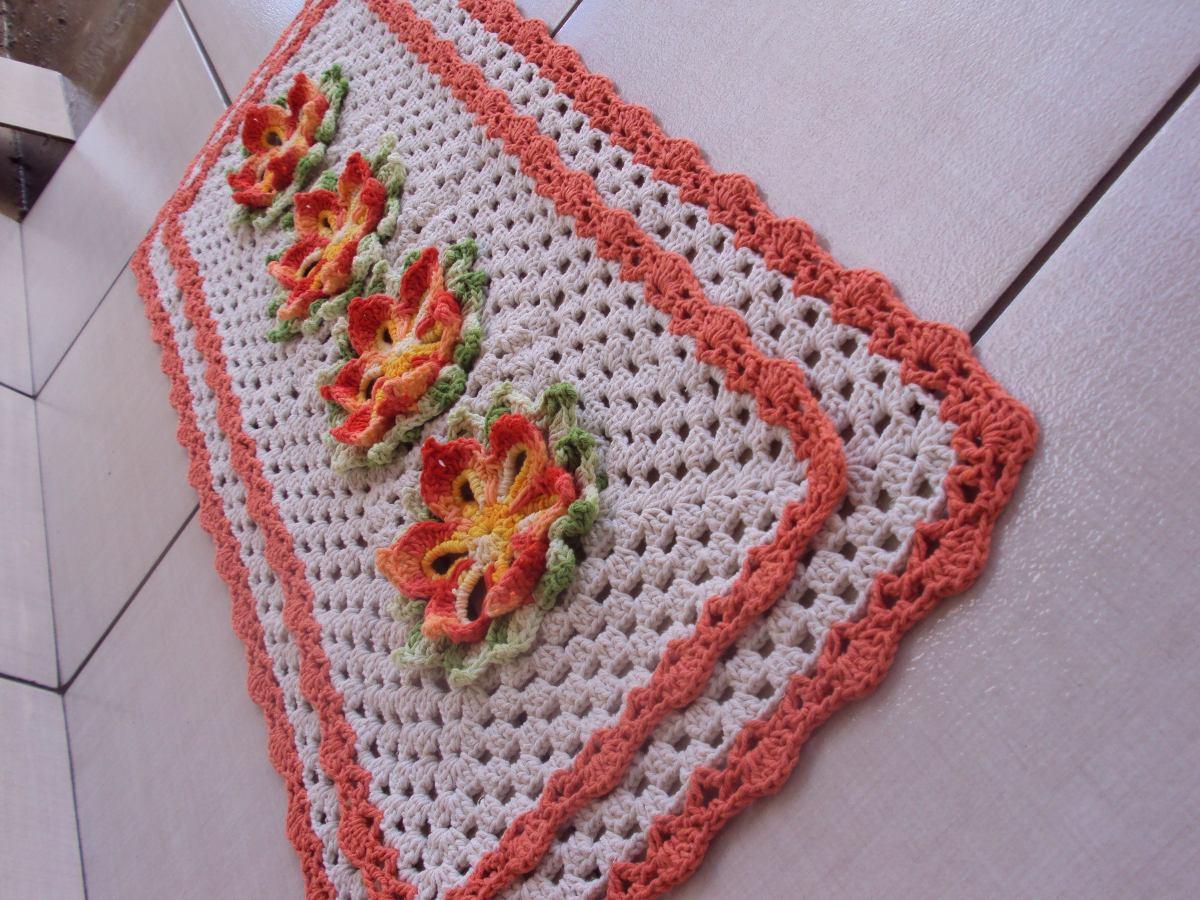 Decore Com Belos Tapetes De Croch Para Cozinha Max Dicas -> Tapete Pra Sala De Croche