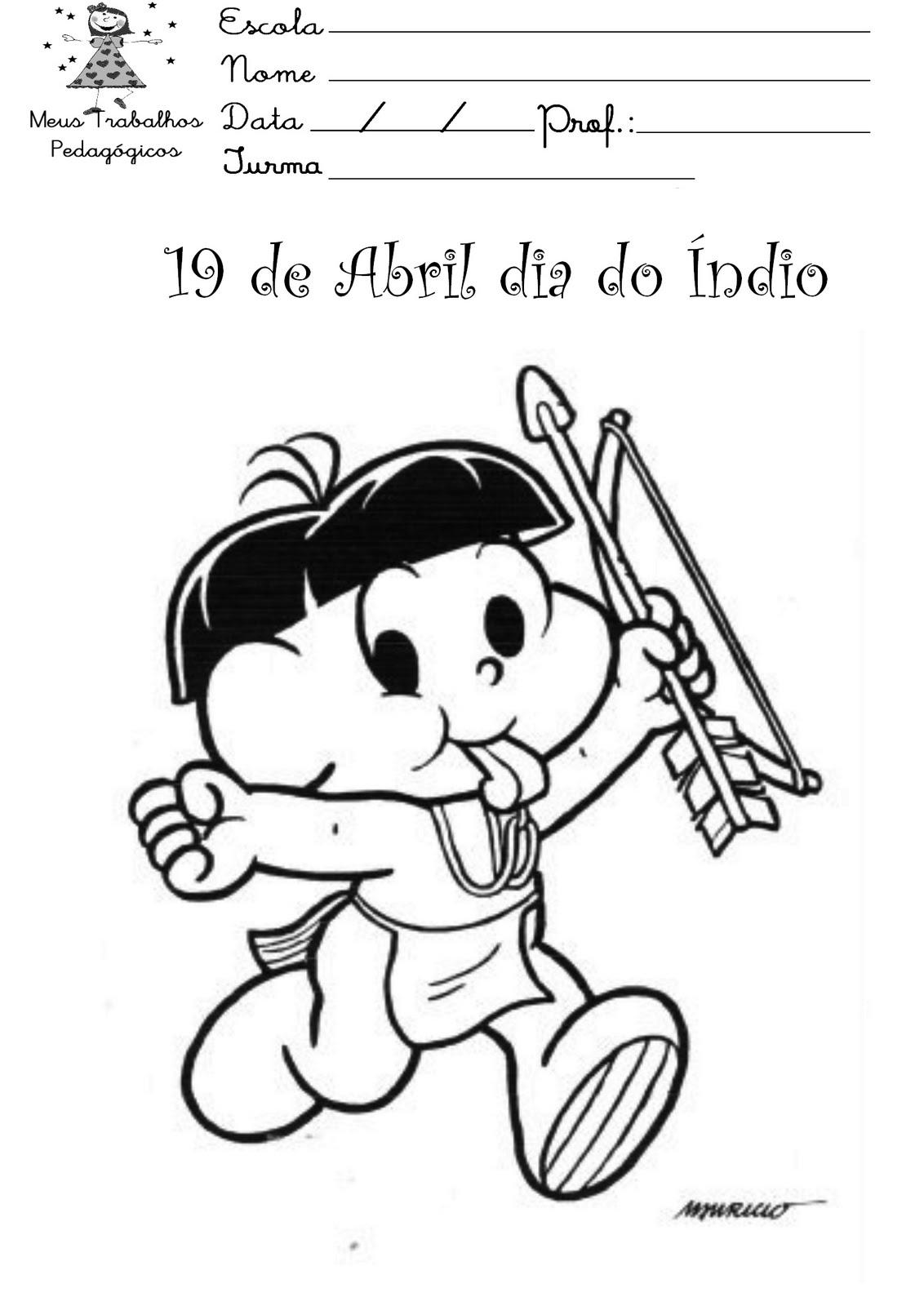 desenhos do dia do índio para ensino infantil