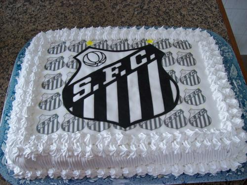 bolo decorado do santos
