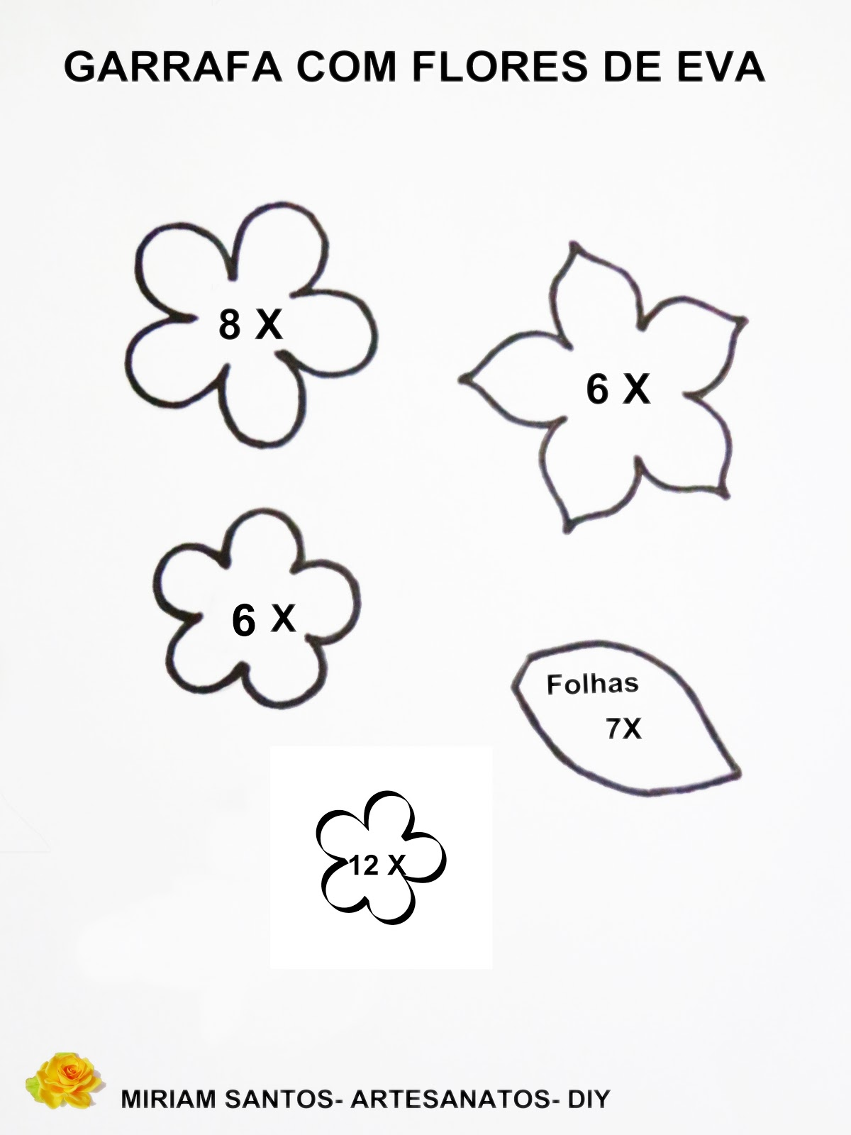 Escolha ótimos Moldes De Flores Em Eva Para Imprimir Max Dicas