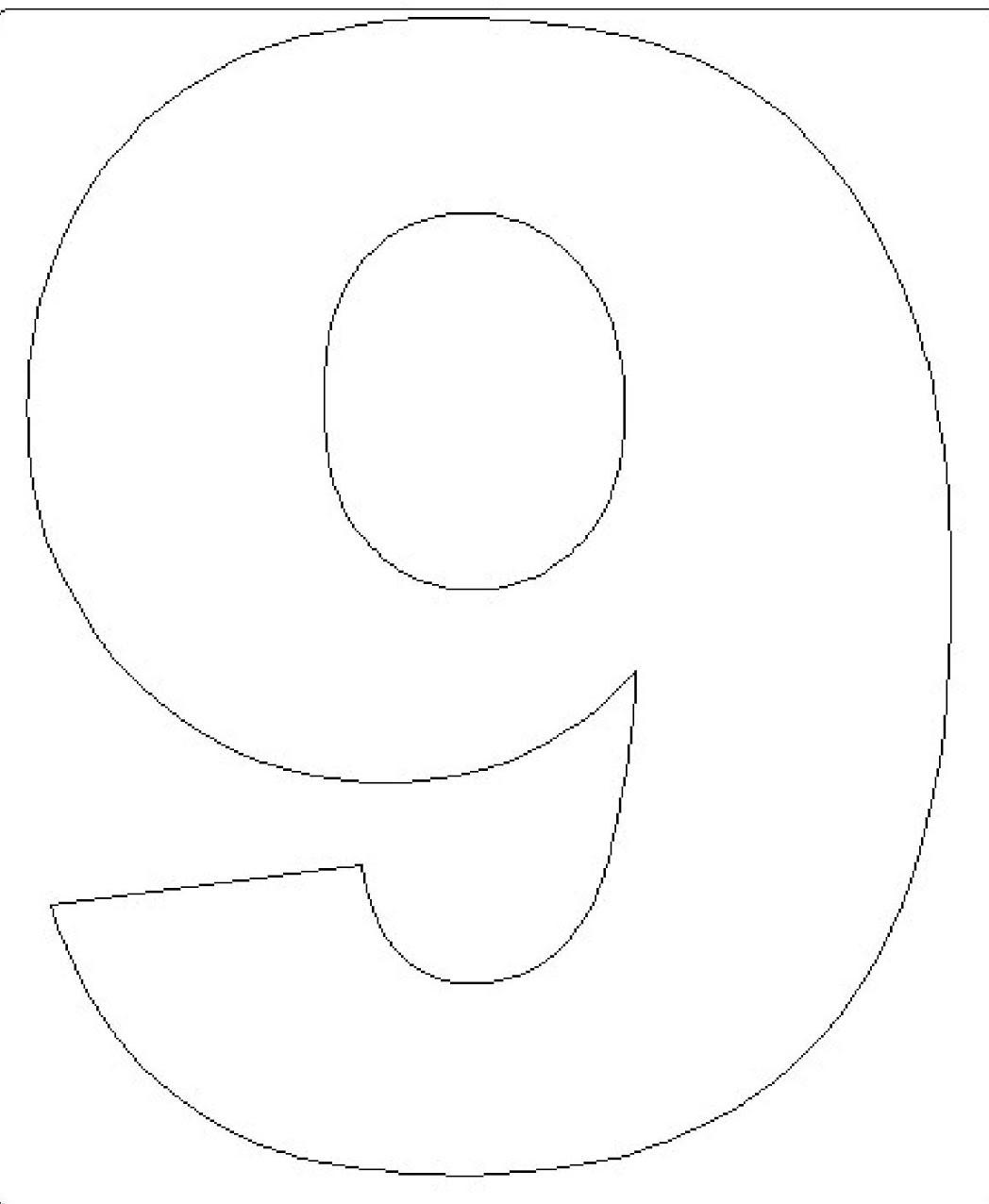 Moldes de Números em EVA para Imprimir de Diferentes Tamanhos | Max ...