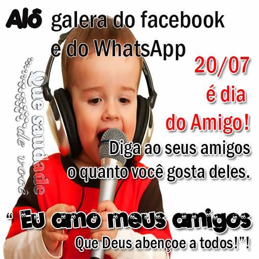 Mensagens Para O Dia Do Amigo Para WhatsApp E Facebook