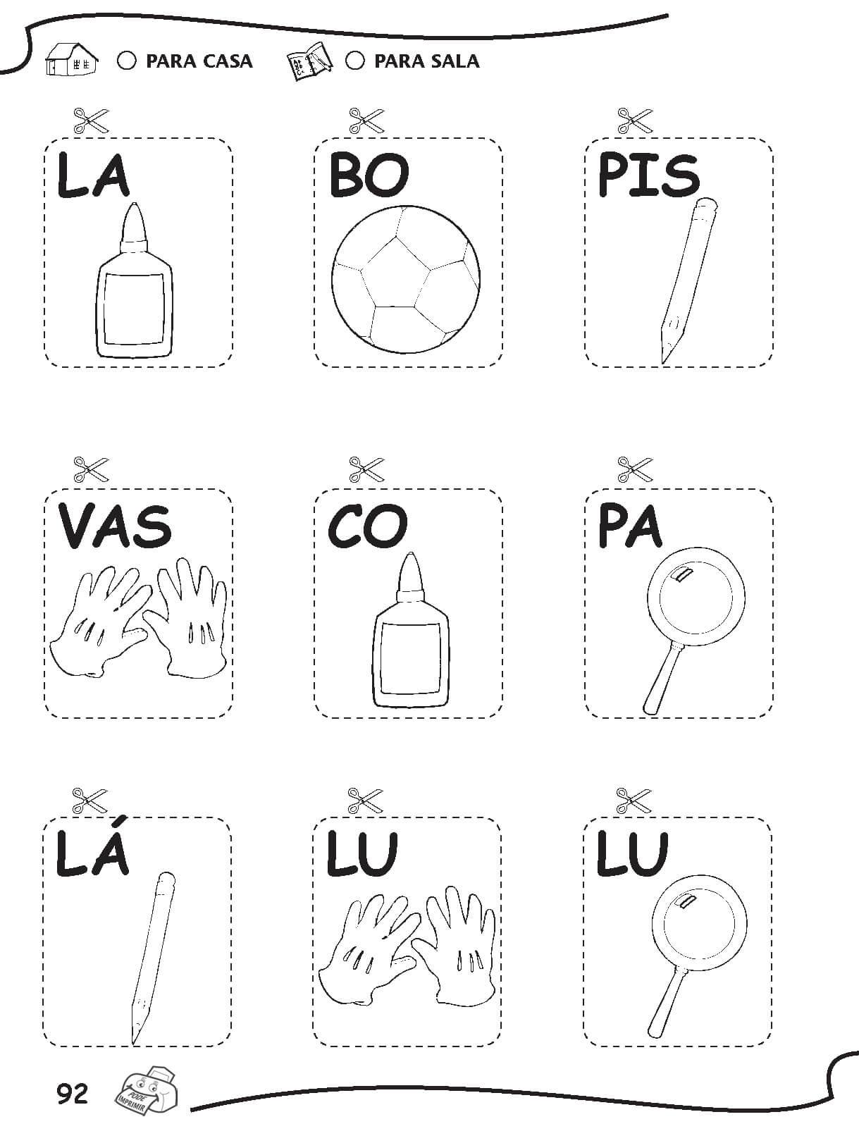 Fabuloso Atividades de Alfabetização Para um Melhor Aprendizado | Max Dicas SR08