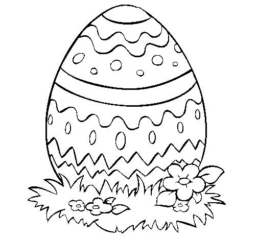 atividade em desenho de ovo de páscoa para colorir e imprimir max