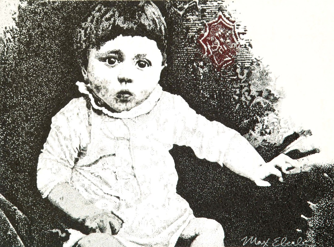 Baby Adolf painting by Max Eberle. 30 by 40 inches, acrylic on canvas