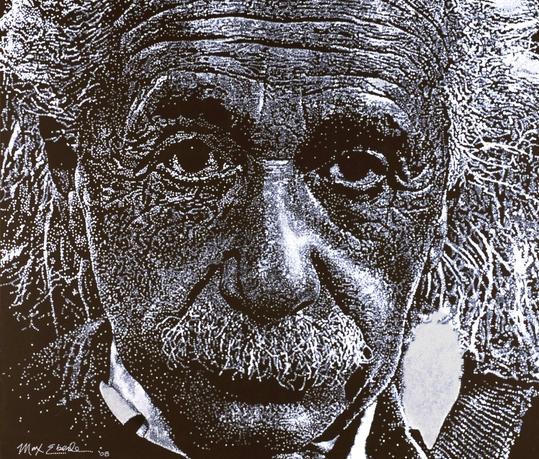 Einstein painting by Max Eberle