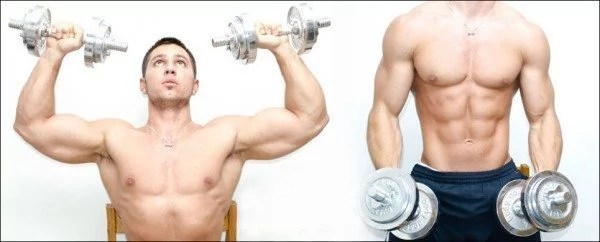 Arold presses are a great shoulder exercise.