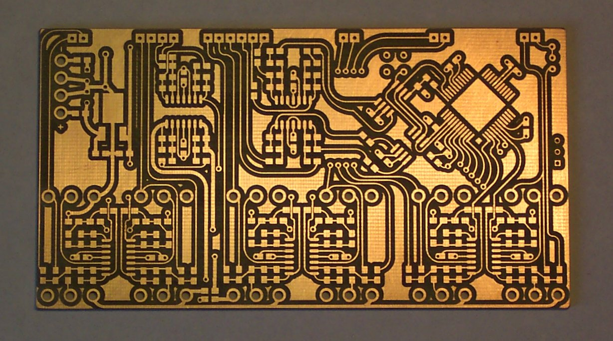 A PCB without any components soldered