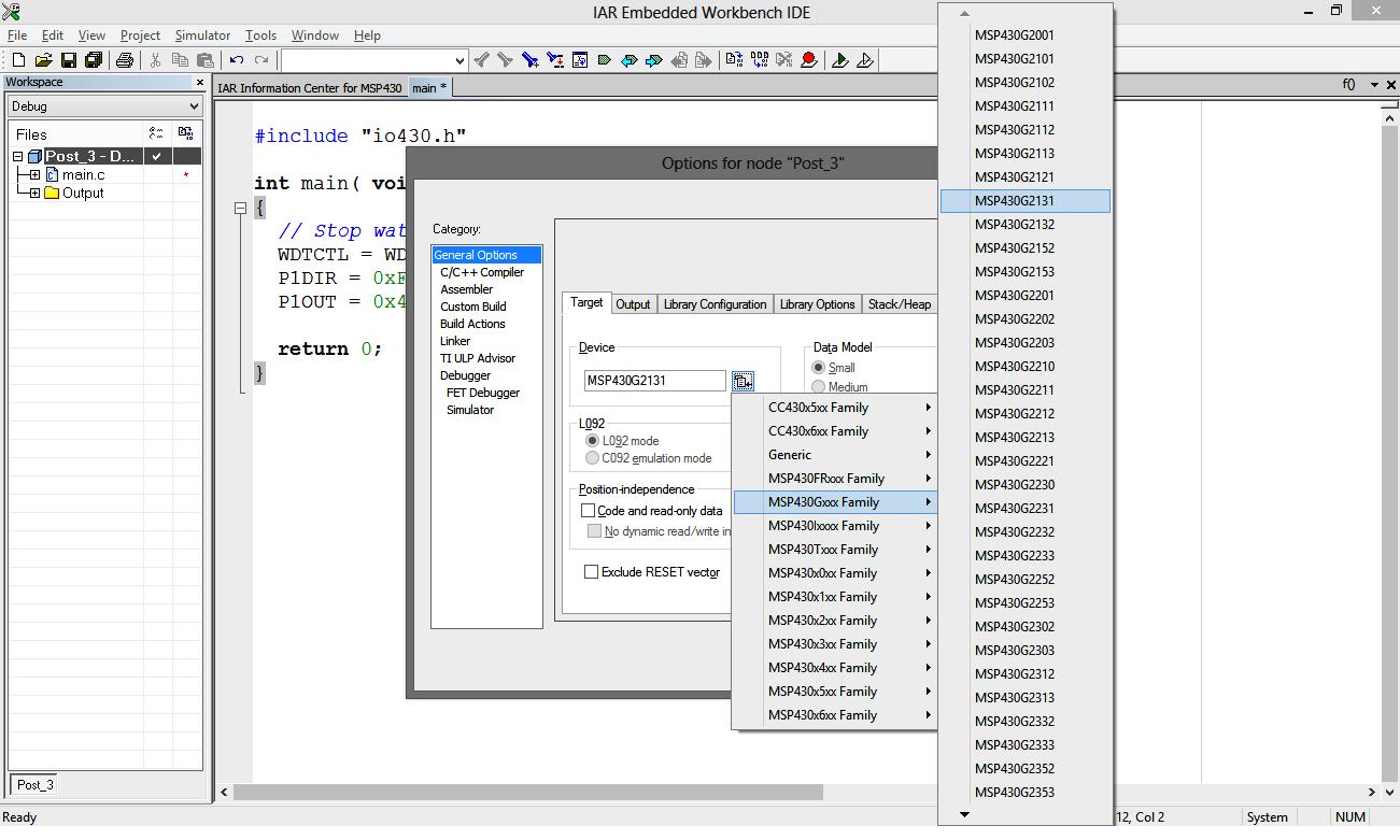 Using IAR Embedded Workbench with MSP430 » maxEmbedded