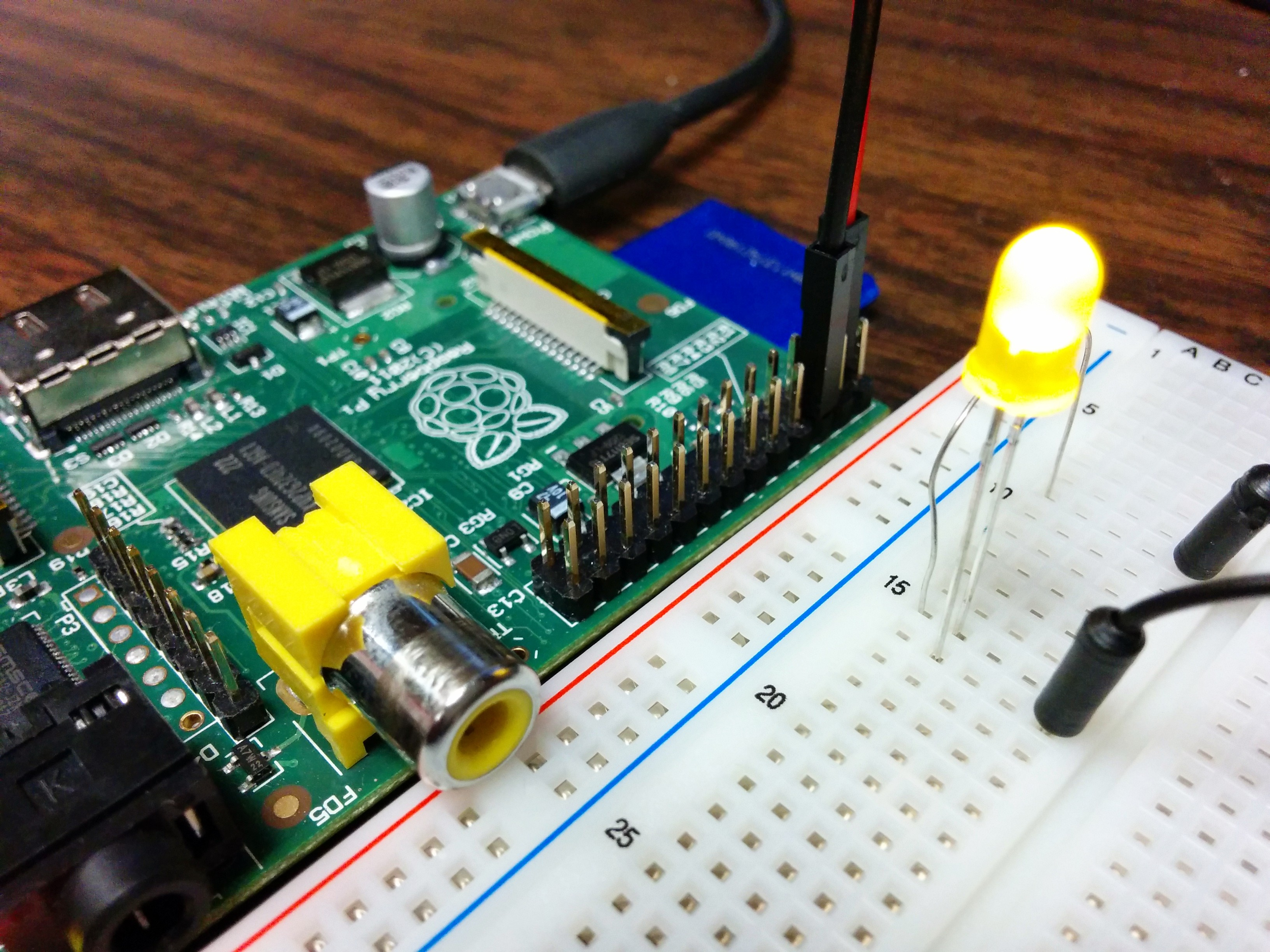 Using The Raspberry Pi Gpio With Python Maxembedded Wiringpi Serial Read Example Led Blinky