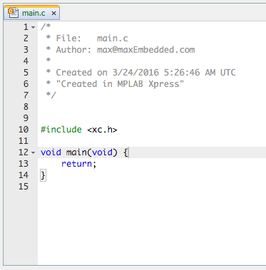 Using Microchip MPLAB Xpress IDE and Evaluation Board » maxEmbedded