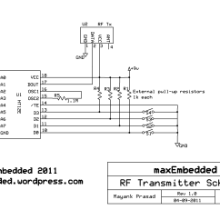 Rf Tx And Rx Circuit Diagram Ford Solenoid Wiring Module Interfacing Without Microcontrollers Maxembedded