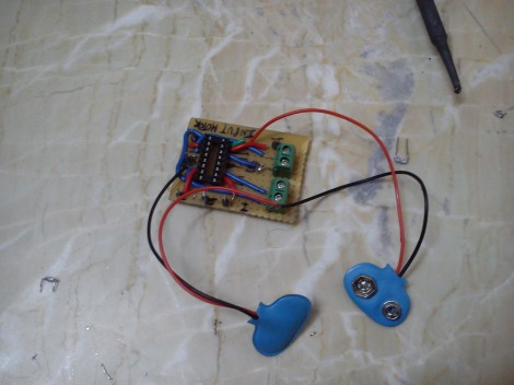 L293D Motor Driver Circuit Soldered on PCB