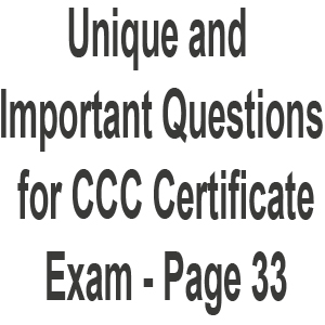 CCC Solved Question Answer Paper 2018 2019