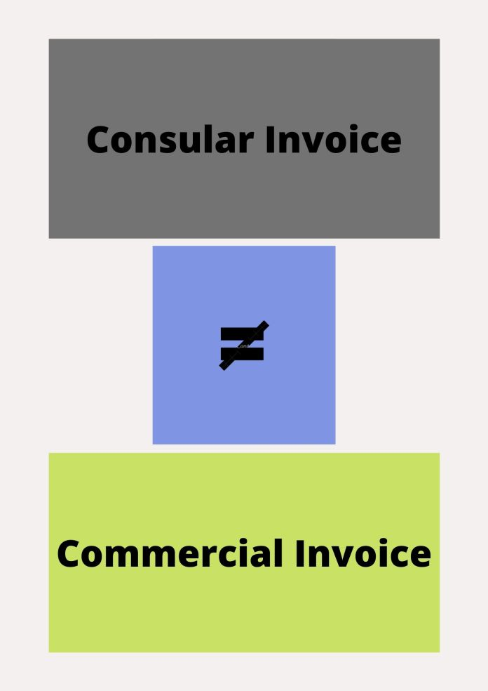 Consular Invoice vs Commercial Invoice