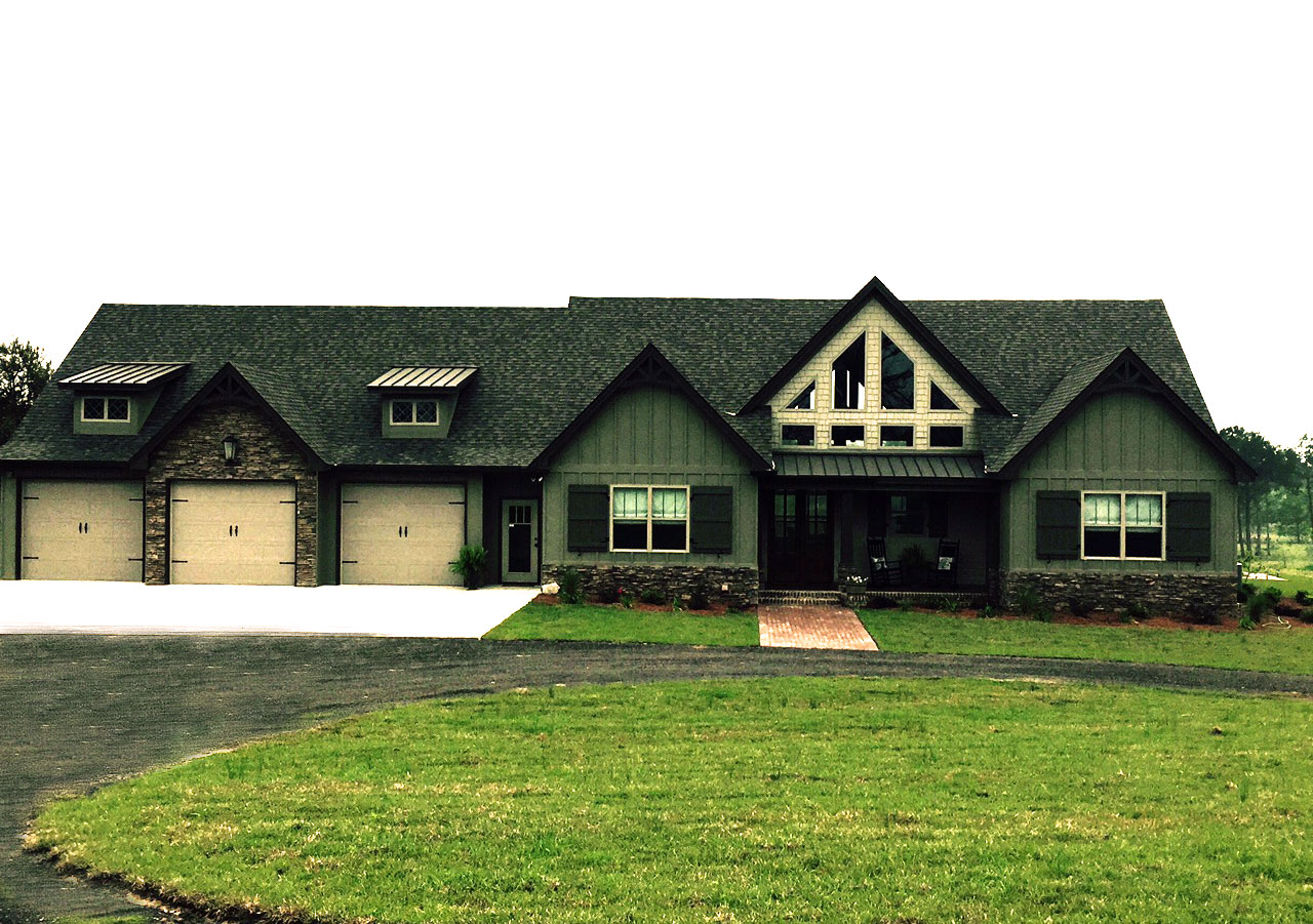 One Story Rustic House Plan Design