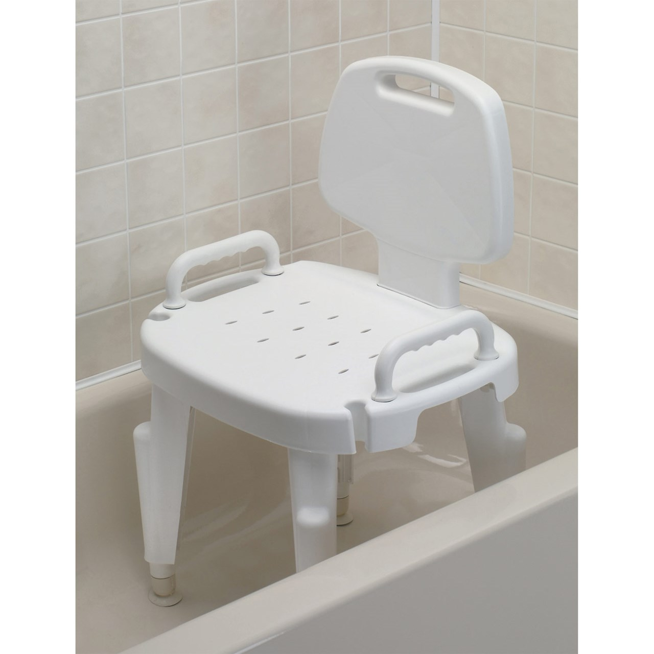 Handicap Bath Chair Maxiaids Adjustable Shower Seat With Arms And Back