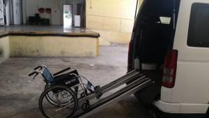 Singapore Maxicab for wheel-chair transfer