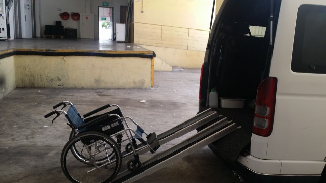 Singapore Maxicab for wheel-chair transfer