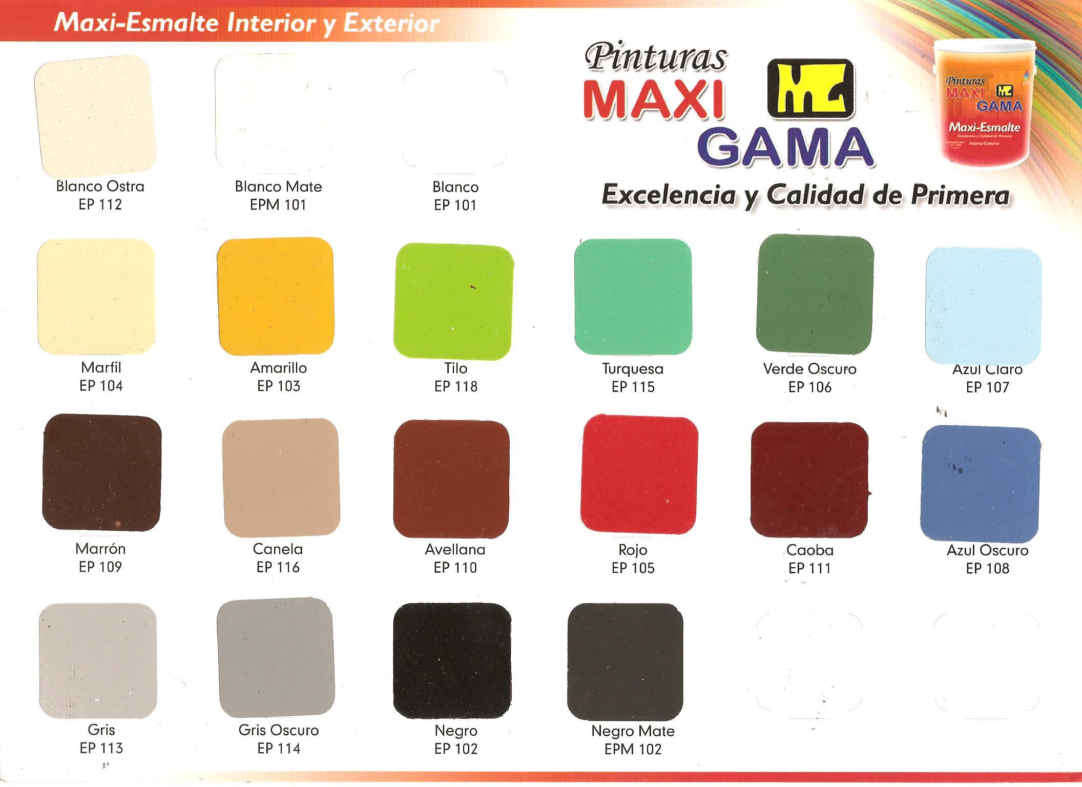 Etiquetas  Fabrica de Pinturas Maxigama