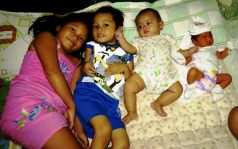 The four jewels (grandchildren) in our lives.