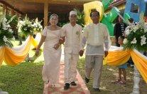 My son's wedding.
