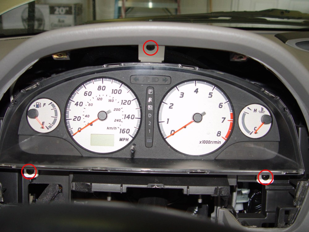 medium resolution of 9 pull the instrument cluster towards the rear of the car on the back side there are 3 connectors 2 are brown and 1 is white