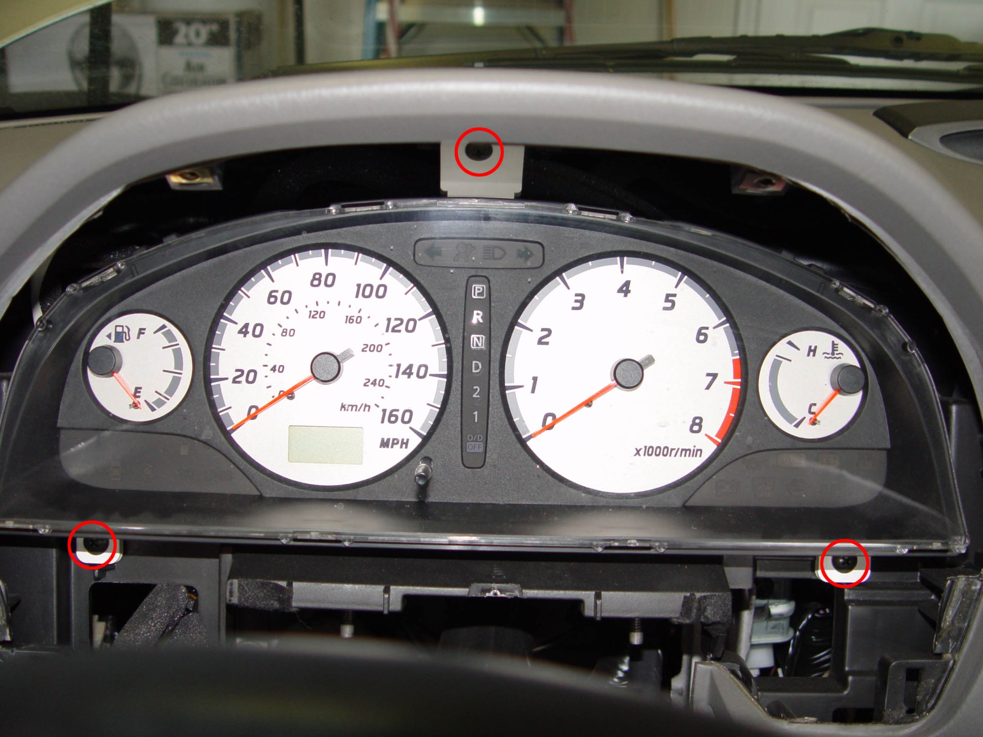 hight resolution of 9 pull the instrument cluster towards the rear of the car on the back side there are 3 connectors 2 are brown and 1 is white