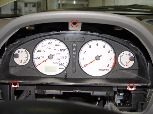 small resolution of 9 pull the instrument cluster towards the rear of the car on the back side there are 3 connectors 2 are brown and 1 is white
