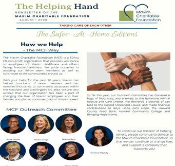 The Helping Hand August 2020