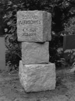 Grabmal für Lothar Markschies, Friedhof Berlin-Schmargendorf, entworfen und gestaltet von Maximilian Klinge